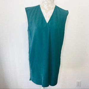 Leith Shift Dress Large Teal Casual Sleeveless